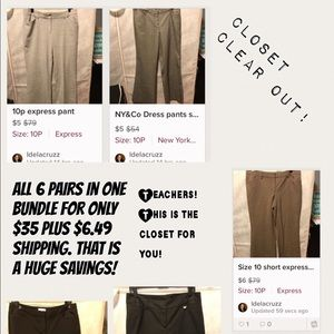 Pants - NEW YORK AND COMPANY AND EXPRESS SLACKS BUNDLE